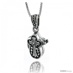 Sterling Silver Cross Shaped Prayer Box