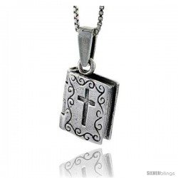 Sterling Silver Prayer Box in the Shape of Bible -Style Pb46