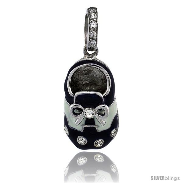 https://www.silverblings.com/77882-thickbox_default/sterling-silver-dark-blue-white-enamel-baby-shoe-pendant-w-cz-stones-7-8-in-23-mm-tall.jpg