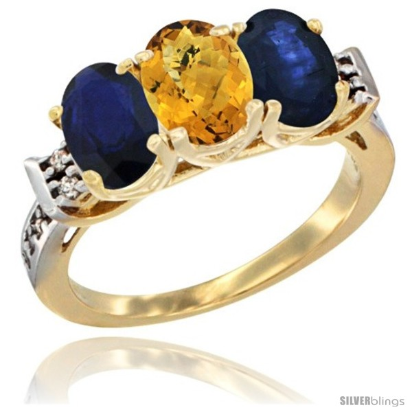 https://www.silverblings.com/77938-thickbox_default/10k-yellow-gold-natural-whisky-quartz-blue-sapphire-sides-ring-3-stone-oval-7x5-mm-diamond-accent.jpg
