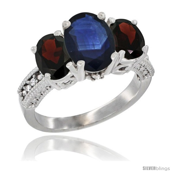 https://www.silverblings.com/7800-thickbox_default/14k-white-gold-ladies-3-stone-oval-natural-blue-sapphire-ring-garnet-sides-diamond-accent.jpg