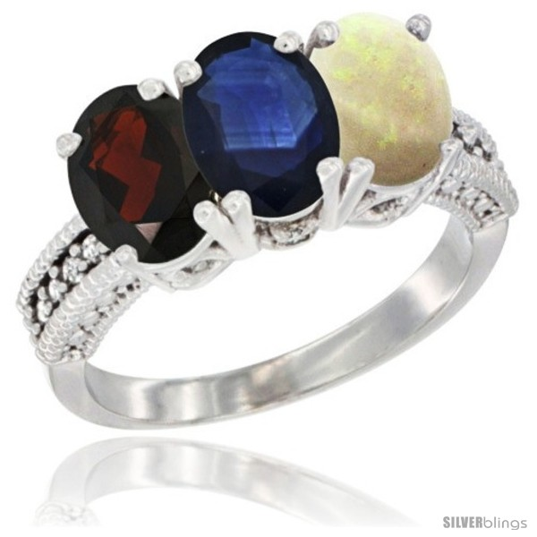 https://www.silverblings.com/7811-thickbox_default/14k-white-gold-natural-garnet-blue-sapphire-opal-ring-3-stone-7x5-mm-oval-diamond-accent.jpg