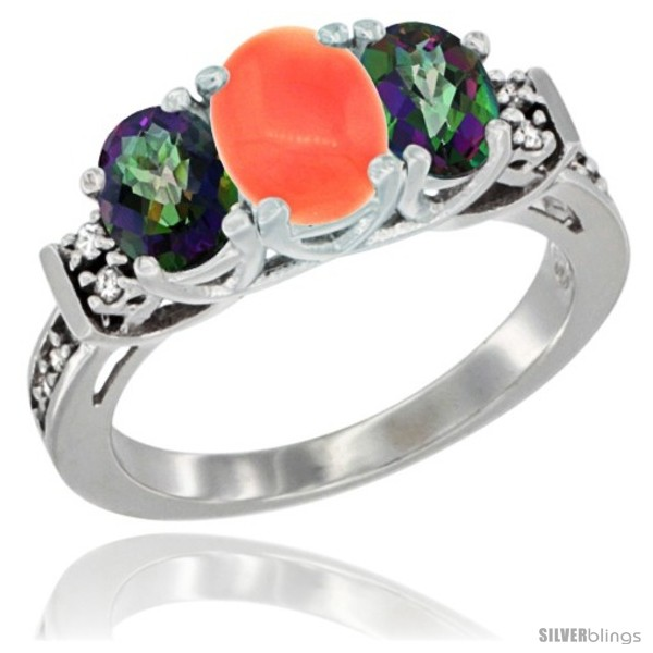 https://www.silverblings.com/78170-thickbox_default/14k-white-gold-natural-coral-mystic-topaz-ring-3-stone-oval-diamond-accent.jpg