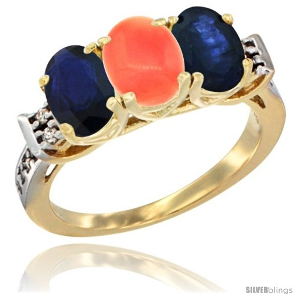 https://www.silverblings.com/78472-thickbox_default/10k-yellow-gold-natural-coral-blue-sapphire-sides-ring-3-stone-oval-7x5-mm-diamond-accent.jpg
