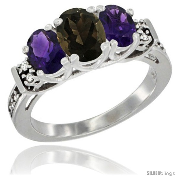 https://www.silverblings.com/78504-thickbox_default/14k-white-gold-natural-smoky-topaz-amethyst-ring-3-stone-oval-diamond-accent.jpg