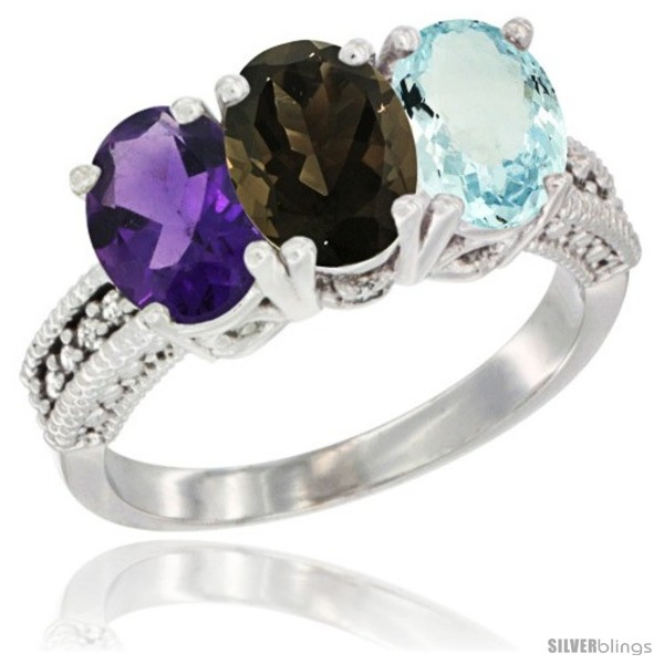 https://www.silverblings.com/78514-thickbox_default/14k-white-gold-natural-amethyst-smoky-topaz-aquamarine-ring-3-stone-7x5-mm-oval-diamond-accent.jpg