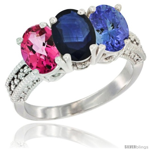 https://www.silverblings.com/78589-thickbox_default/10k-white-gold-natural-pink-topaz-blue-sapphire-tanzanite-ring-3-stone-oval-7x5-mm-diamond-accent.jpg