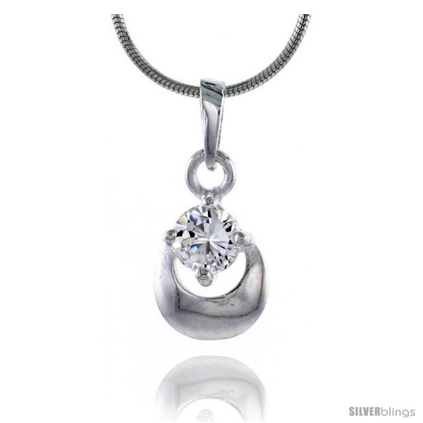 https://www.silverblings.com/78773-thickbox_default/high-polished-sterling-silver-5-8-16-mm-tall-matte-finish-fancy-loop-pendant-w-5mm-brilliant-cut-cz-stone-w-18-thin-box.jpg