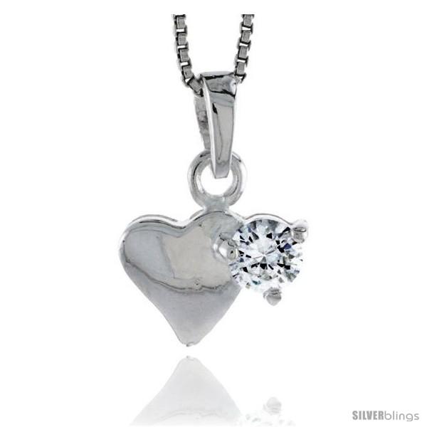 https://www.silverblings.com/78775-thickbox_default/high-polished-sterling-silver-9-16-14-mm-tall-heart-pendant-w-5mm-brilliant-cut-cz-stone-w-18-thin-box-chain.jpg