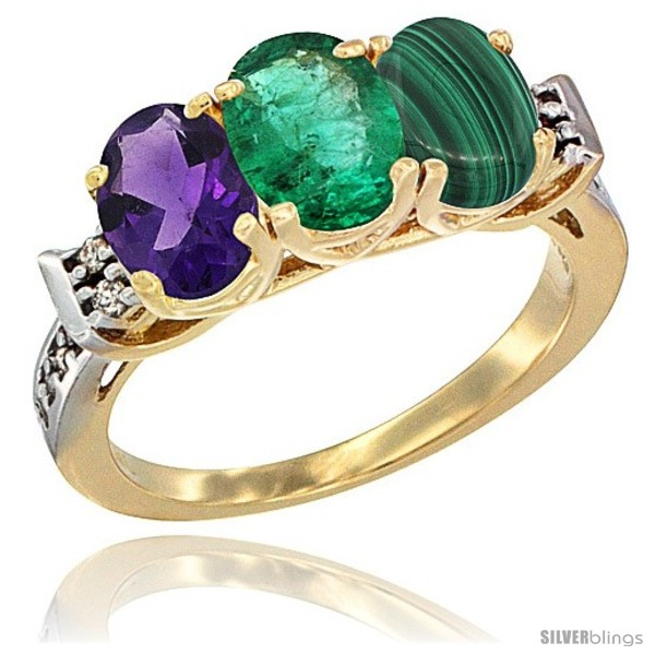https://www.silverblings.com/78863-thickbox_default/10k-yellow-gold-natural-amethyst-emerald-malachite-ring-3-stone-oval-7x5-mm-diamond-accent.jpg