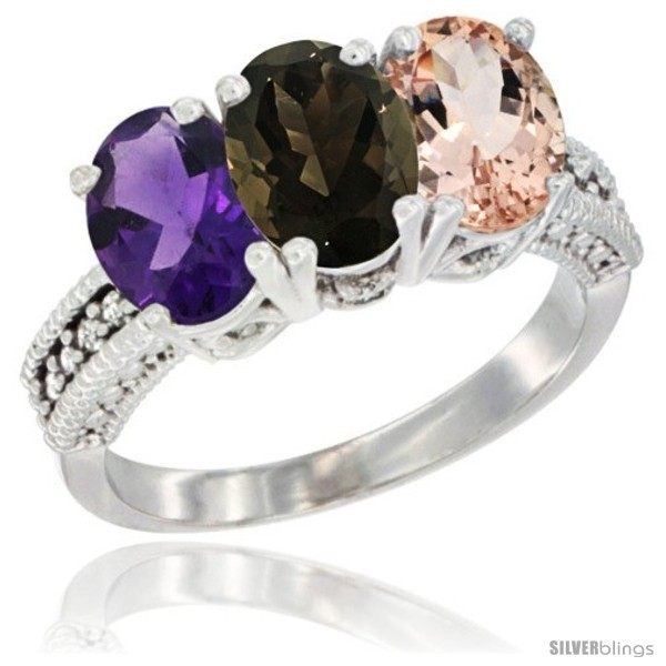 https://www.silverblings.com/78875-thickbox_default/14k-white-gold-natural-amethyst-smoky-topaz-morganite-ring-3-stone-7x5-mm-oval-diamond-accent.jpg