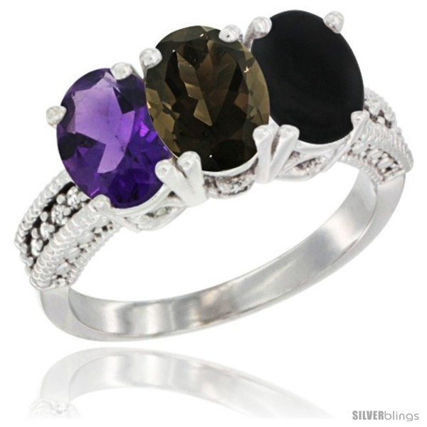 https://www.silverblings.com/78886-thickbox_default/14k-white-gold-natural-amethyst-smoky-topaz-black-onyx-ring-3-stone-7x5-mm-oval-diamond-accent.jpg