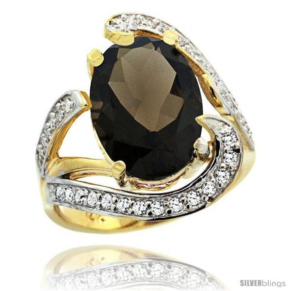 https://www.silverblings.com/78982-thickbox_default/14k-gold-natural-smoky-topaz-ring-oval-14x10-diamond-accent-3-4-in-wide.jpg