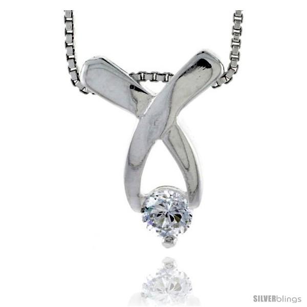 https://www.silverblings.com/79022-thickbox_default/high-polished-sterling-silver-5-8-16-mm-round-pendant-slide-w-5mm-brilliant-cut-cz-stone-w-18-thin-box-chain.jpg