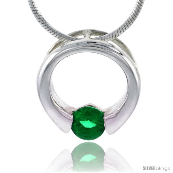 https://www.silverblings.com/79036-thickbox_default/high-polished-sterling-silver-9-16-15-mm-round-pendant-slide-w-5mm-brilliant-cut-emerald-colored-cz-stone-w-18-thin-box.jpg