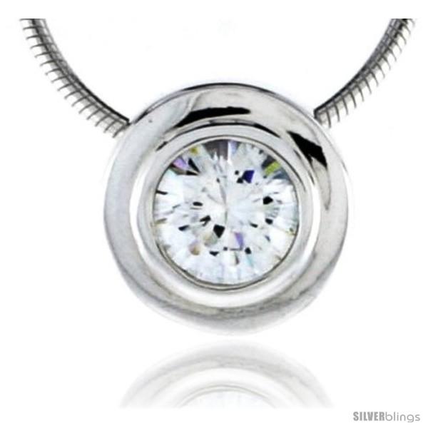 https://www.silverblings.com/79092-thickbox_default/high-polished-sterling-silver-7-16-11-mm-round-pendant-enhancer-w-6-5mm-brilliant-cut-cz-stone-w-18-thin-box-chain.jpg