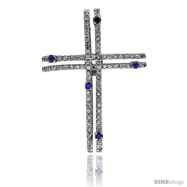 https://www.silverblings.com/79138-thickbox_default/sterling-silver-gammadia-cross-pendant-w-brilliant-cut-clear-amethyst-colored-cz-stones-2-51-mm-tall-w-18-thin-snake.jpg