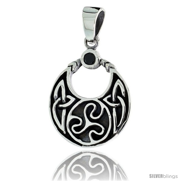 https://www.silverblings.com/79146-thickbox_default/sterling-silver-round-celtic-pendant-w-single-black-cz-w-18-thin-box-chain.jpg