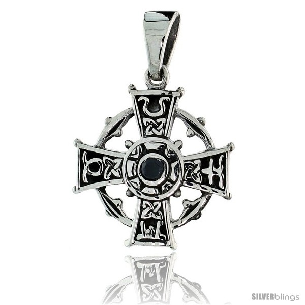 https://www.silverblings.com/79162-thickbox_default/sterling-silver-celtic-cross-pendant-w-single-black-cz-w-18-thin-box-chain.jpg
