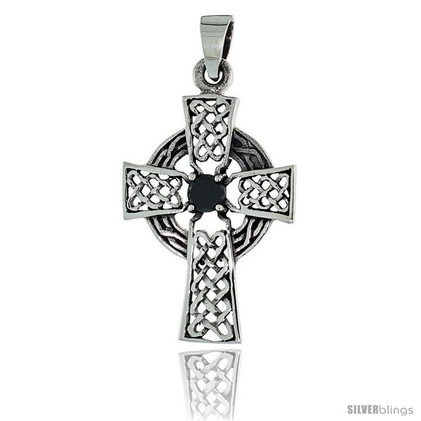 https://www.silverblings.com/79168-thickbox_default/sterling-silver-celtic-high-cross-pendant-w-single-black-cz-w-18-thin-box-chain.jpg