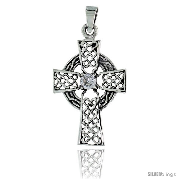 https://www.silverblings.com/79172-thickbox_default/sterling-silver-celtic-high-cross-pendant-w-single-clear-cz-w-18-thin-box-chain.jpg