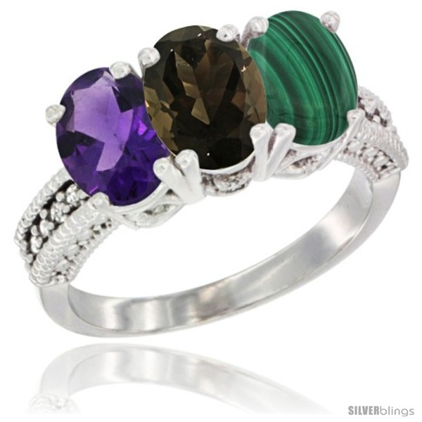 https://www.silverblings.com/79218-thickbox_default/14k-white-gold-natural-amethyst-smoky-topaz-malachite-ring-3-stone-7x5-mm-oval-diamond-accent.jpg
