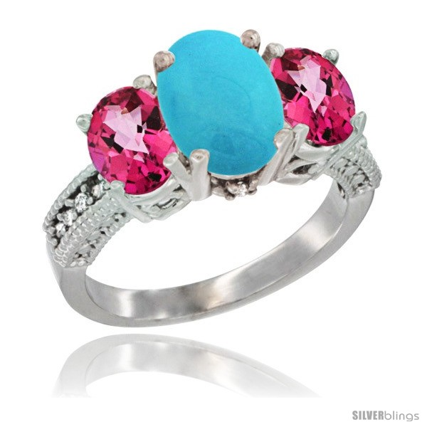 https://www.silverblings.com/79285-thickbox_default/10k-white-gold-ladies-natural-turquoise-oval-3-stone-ring-pink-topaz-sides-diamond-accent.jpg