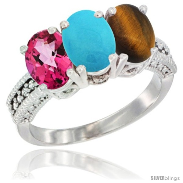 https://www.silverblings.com/79292-thickbox_default/10k-white-gold-natural-pink-topaz-turquoise-tiger-eye-ring-3-stone-oval-7x5-mm-diamond-accent.jpg