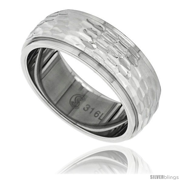 https://www.silverblings.com/7931-thickbox_default/surgical-steel-domed-8mm-wedding-band-ring-hammered-finish-recessed-edges.jpg