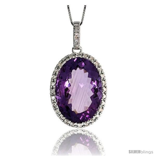 https://www.silverblings.com/79490-thickbox_default/14k-white-gold-16-chain-1-1-8-29mm-tall-amethyst-pendant-w-0-28-carat-brilliant-cut-diamonds-13-85-carats-18x12mm.jpg