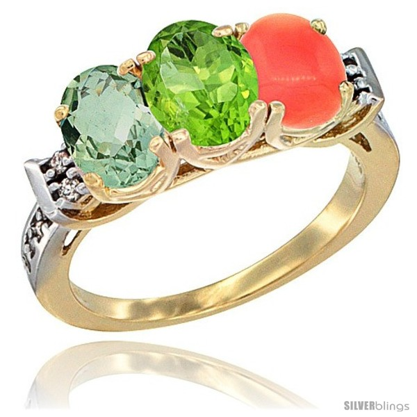 https://www.silverblings.com/795-thickbox_default/10k-yellow-gold-natural-green-amethyst-peridot-coral-ring-3-stone-oval-7x5-mm-diamond-accent.jpg