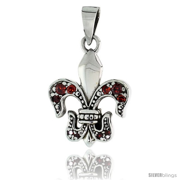 https://www.silverblings.com/79616-thickbox_default/sterling-silver-fleur-de-lys-pendant-w-red-cz-stones-w-18-thin-box-chain.jpg
