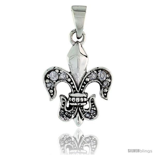https://www.silverblings.com/79618-thickbox_default/sterling-silver-fleur-de-lys-pendant-w-clear-cz-stones-w-18-thin-box-chain.jpg