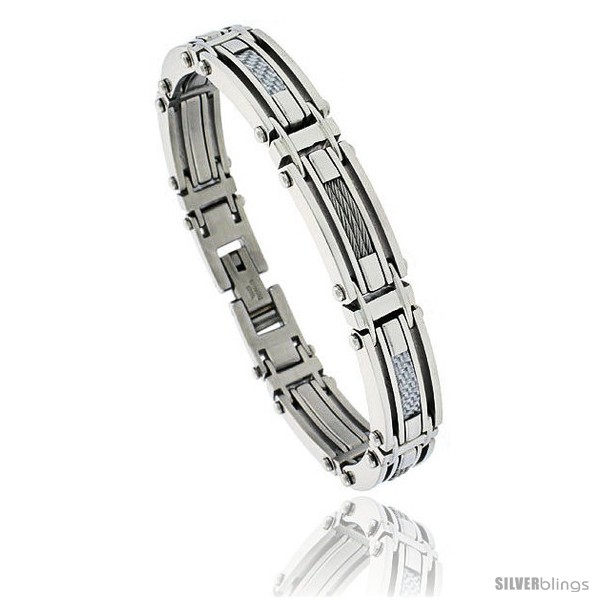 https://www.silverblings.com/803-thickbox_default/gents-stainless-steel-cable-gray-carbon-fiber-bracelet-1-2-in-wide.jpg