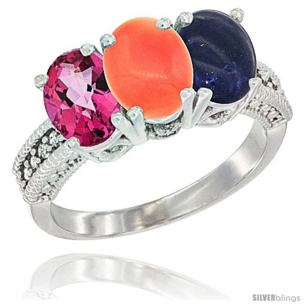 https://www.silverblings.com/80906-thickbox_default/10k-white-gold-natural-pink-topaz-coral-lapis-ring-3-stone-oval-7x5-mm-diamond-accent.jpg