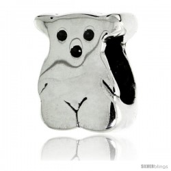Sterling Silver Teddy Bear Bead Charm for most Charm Bracelets -Style Pdr120