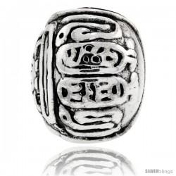 Sterling Silver Torah Barrel Bead Charm for most Charm Bracelets
