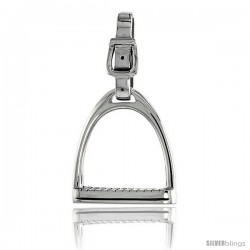 "Sterling Silver Stirrup Pendant, 1 5/8"" (41 mm) tall"