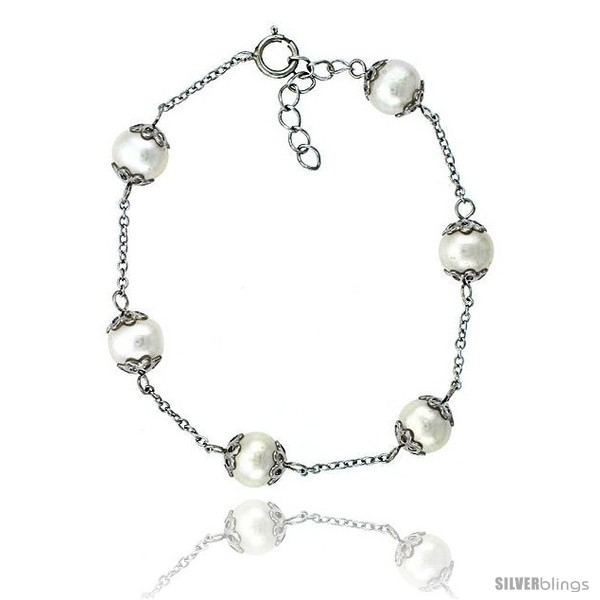 https://www.silverblings.com/81430-thickbox_default/sterling-silver-pearl-bracelet-freshwater-8-mm-rhodium-finish-7-in-long--1-in-extension.jpg