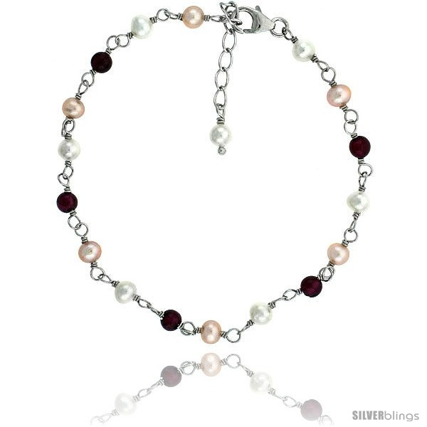 https://www.silverblings.com/81470-thickbox_default/sterling-silver-pearl-bracelet-freshwater-4-mm-pearl-garnet-beads-rhodium-finish-7-in--1-in-extension.jpg