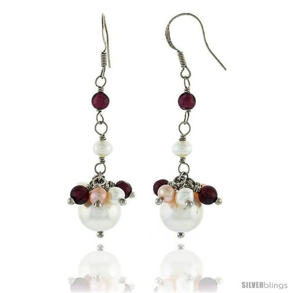 https://www.silverblings.com/81852-thickbox_default/sterling-silver-pearl-drop-earrings-natural-freshwater-w-garnet-beads-rhodium-finish-45-mm-long.jpg