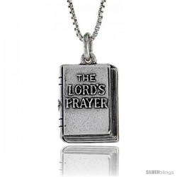 Sterling Silver Lord's Prayer / Holy Bible Pendant, 5/16 in. (8 mm) Long.