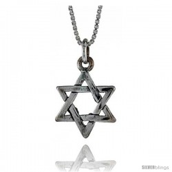 Sterling Silver Star of David Pendant, 5/16 in. (8 mm) Long.