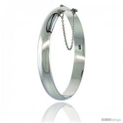 Sterling Silver Bangle Bracelet High Polished 3/8 in wide