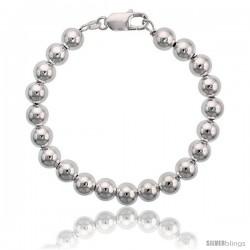 Sterling Silver 8 mm Italian Bead Bracelet
