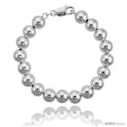 Sterling Silver 10 mm Italian Bead Bracelet