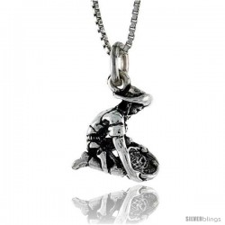 Sterling Silver Prospector Pendant, 9/16 in. (15 mm) Long.