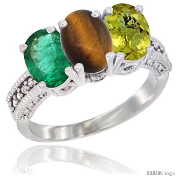 https://www.silverblings.com/8244-thickbox_default/10k-white-gold-natural-emerald-tiger-eye-lemon-quartz-ring-3-stone-oval-7x5-mm-diamond-accent.jpg