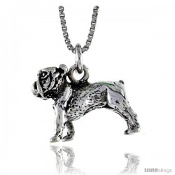 Sterling Silver Dog Pendant, 3/4 in. (20 mm) Long.