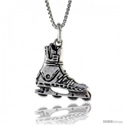 Sterling Silver Roller Blades Pendant, 5/8 in. (16 mm) Long.